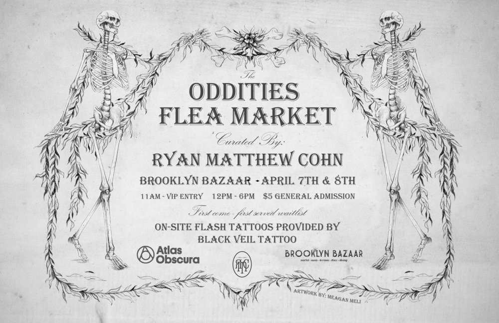April - Thank you so much to everyone who attended the April Oddities Flea Market! It was a blast. Until the next one!