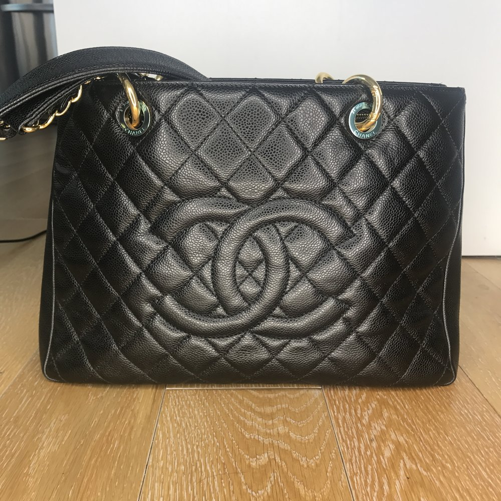 69ea64044ddb CHANEL Caviar Quilted Grand Shopping Tote - Black — Olori Swank