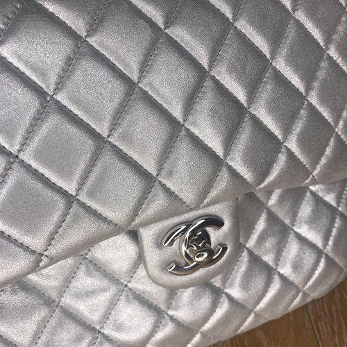 f54641905 Chanel Backpack Metallic Quilted In Seoul Silver Lambskin Leather Backpack