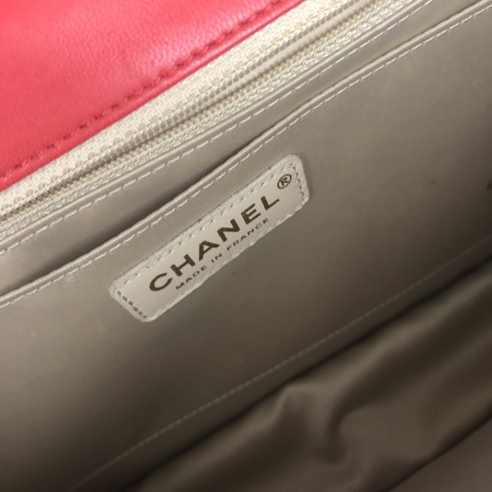 5331c638eb2f CHANEL Lambskin Quilted Large Golden Class Flap Red — Olori Swank