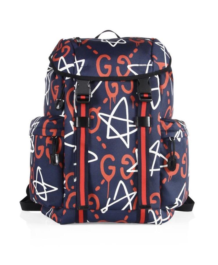 5bad60e55cb Gucci Ghost Stars Canvas Backpack — Olori Swank