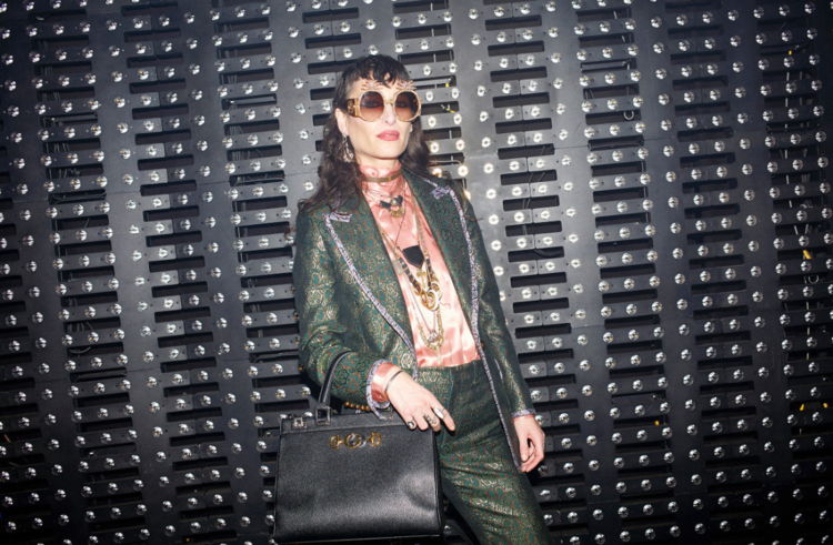 5f8d915bc0e ... the Zumi bag is named after Zumi Rosow a musician and actress. The muse  was seen pictured front row at the Gucci fall winter 2019 show wearing ...