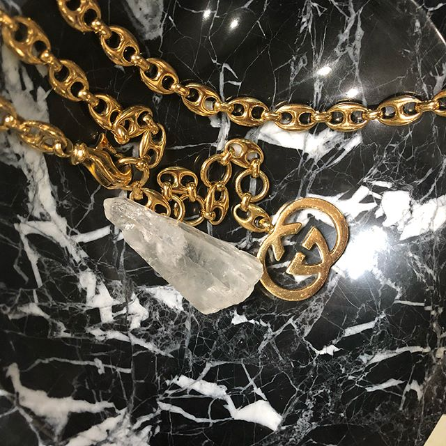 Vintage #gucci chain belt now available in store! $595 DM or come in to purchase!