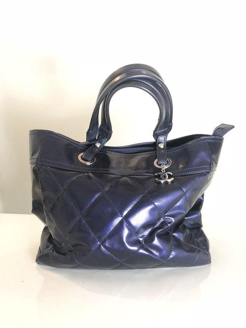 5fbf3b104228 Chanel Paris Biarritz Tote Iridescent Blue — Entre Nous Showroom