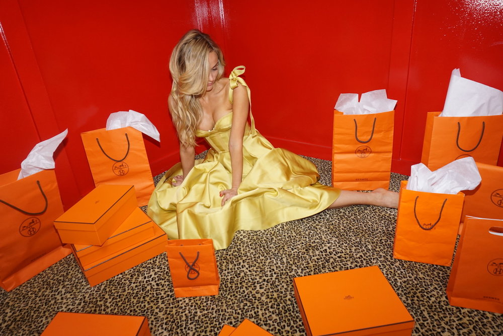 yellow dress hermes bags