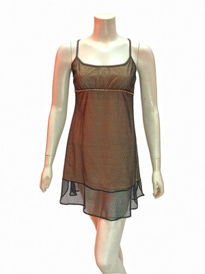 c1658a3c035ce Chanel Nude Slip Dress With Mesh Overlay ...
