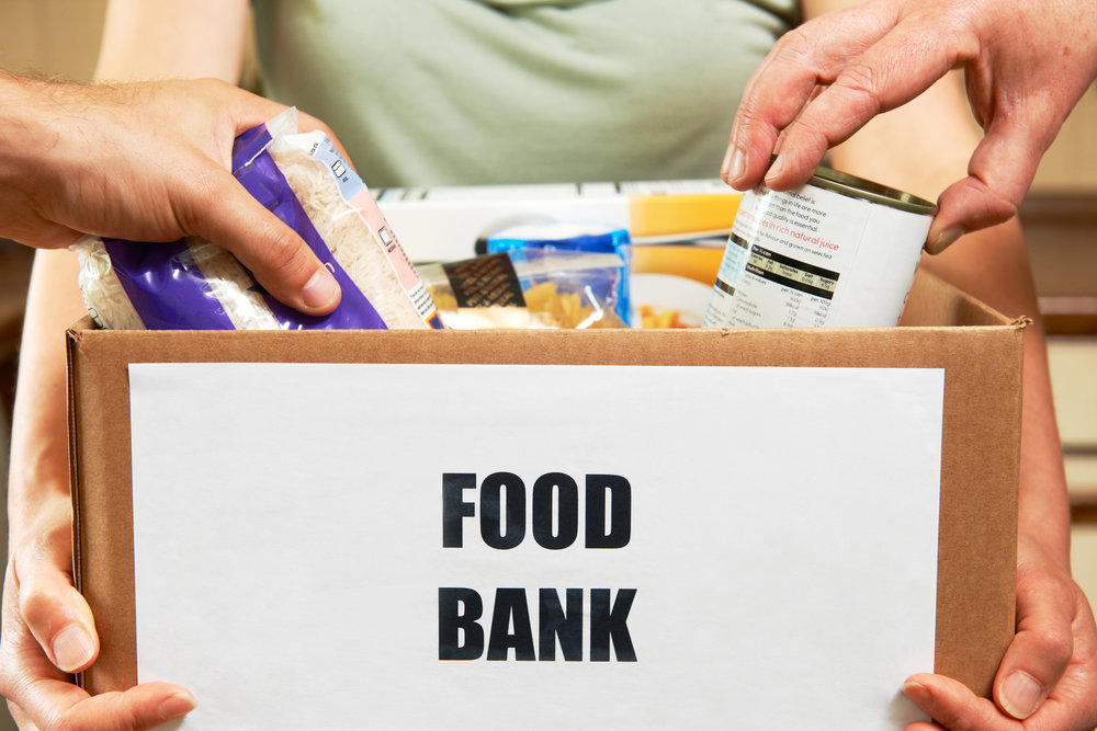 Volunteer at a local Food Bank    -