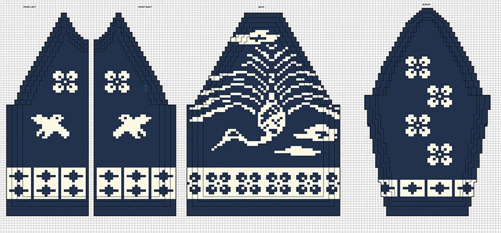 Kanata Cowichan Design – Swooping Crane
