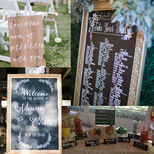 Signage, rentals&candy tables - Ask about pricing and options!