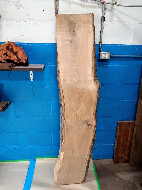 black ash slab wood