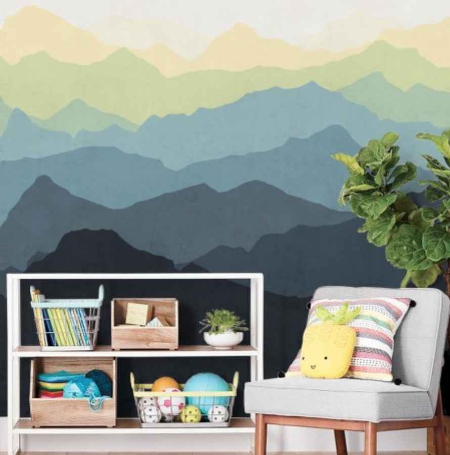 https://www.simpleshapes.com/mountain-mural-wall-art-wallpaper-navy-yellow-peel-and-stick.html
