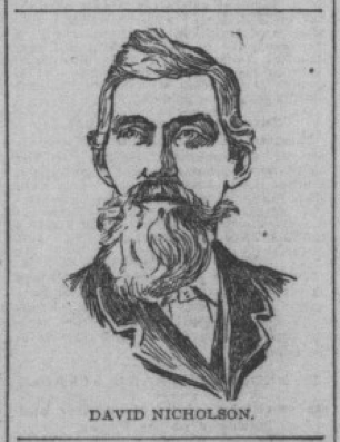 I found this in a scan of his obituary from 1899 .  (source:  https://newspapers.library.in.gov/cgi-bin/indiana?a=d&d=INN18990809-01.1.2)