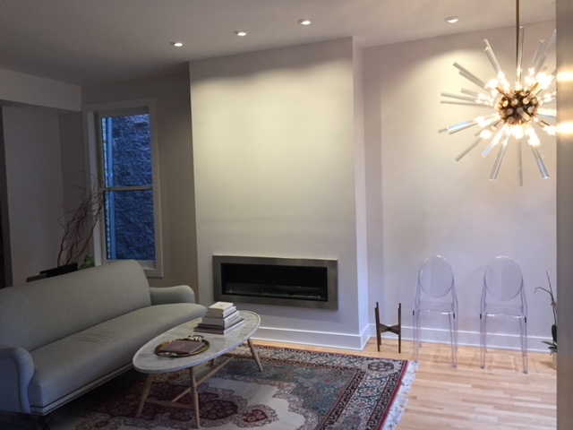 Custom Fireplace & Living Room Remodel After