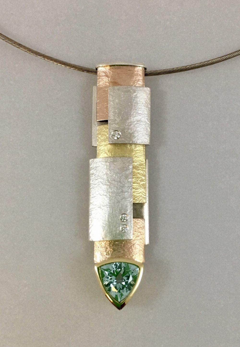 multi colored gold, silver, diamond, beryl