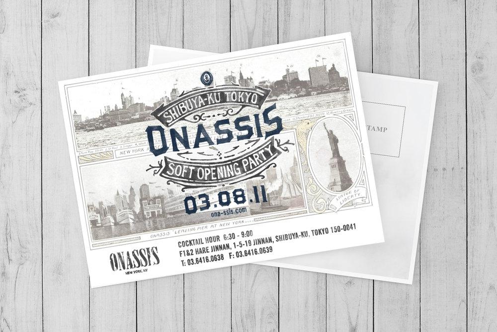 Onassis Clothing Store Event Invitations Luna Yoon Studio