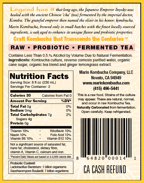 Marin Kombucha Ginger Lemongrass Back Label 0118.jpg
