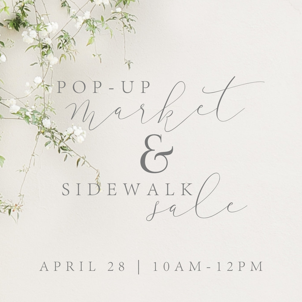 Come meet local makers & shakers on April 28th from 10am-12pm at our Pop-Up Market & save up to 60% at Fourteen& East's Sidewalk Sale!
