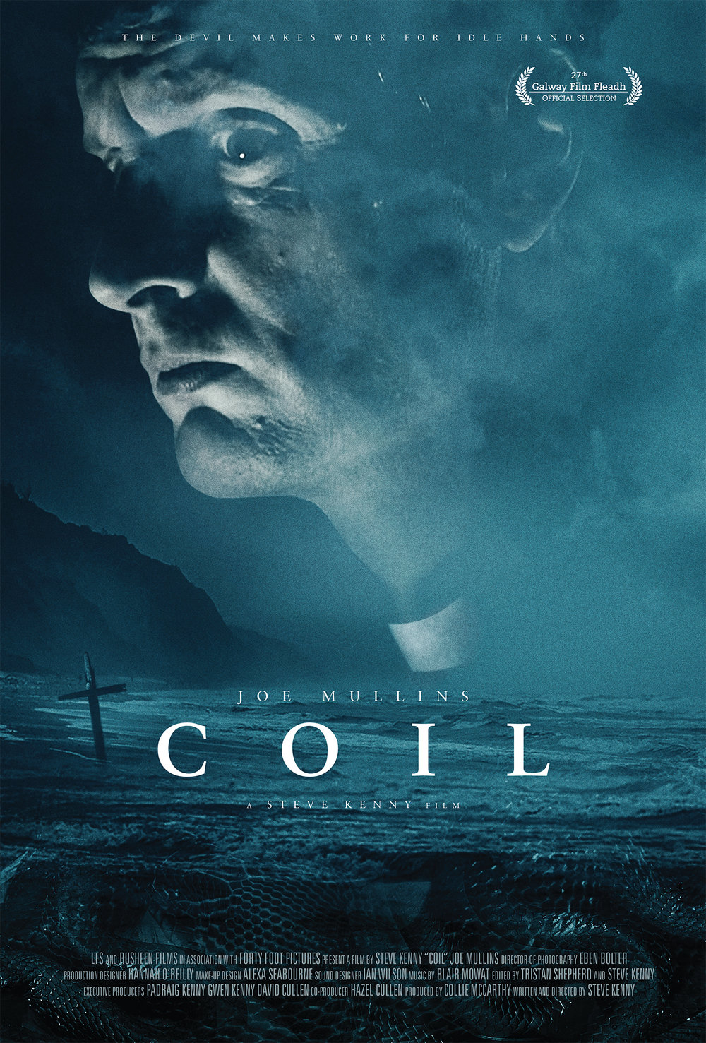 COIL - Horror, Thriller. 15mins.Patrick, a lonely priest in a small rural community, has his world turned upside down when a strange ornament is left anonymously at his front door.Writer/Director: Steve KennyCast: Joe Mullins.Winner of 'Best Student Short' at Kerry Film Festival 2015. 'Best of Fest' at Cork Film Festival 2015.
