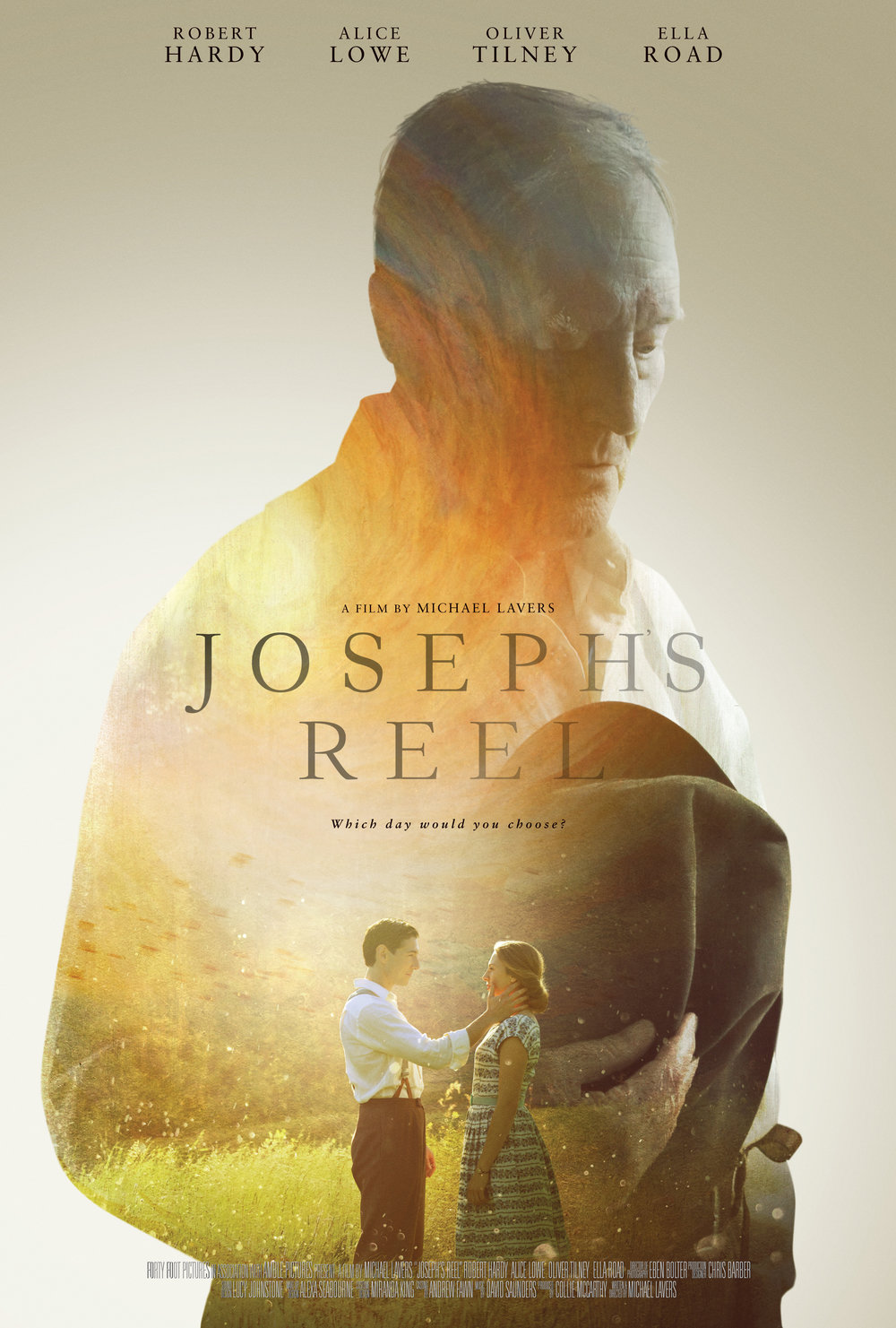 JOSEPH'S REEL - Romance, Fantasy, Drama. 14mins.An elderly man, upon dying, is given the opportunity to relive one day of his life.Writer/Director: Michael Lavers.Cast: Robert Hardy, Oliver Tilney, Alice Lowe, Ella Road.World Premiere at Palm Springs International Shortfest 2015. Further festival selections: Aesthetica, Galway, Cork.