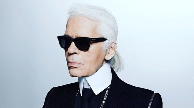 Fashion has lost an ICON...The world is less CHIC...RIP Karl Lagerfeld #fashionicon #karllagerfeld