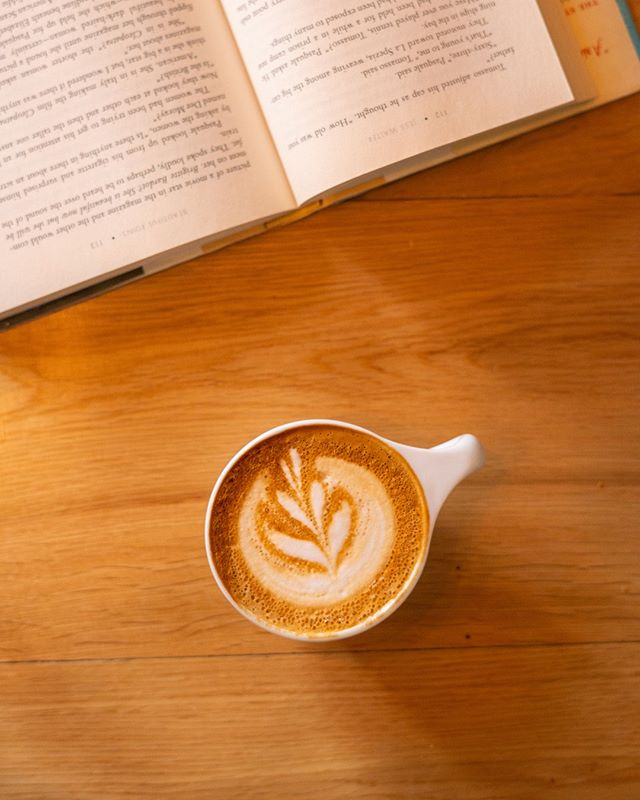98% of doctors recommend starting your day with coffee and a good book...well not really...but it couldn't hurt. 😜⁣ #baristagram  #beourguest ⁣ .⁣ .⁣ .⁣ .⁣ .⁣ #lattepost #morningfuel #coffeeshoptabletop #coffeeshopcorners #coffeeshopvibes #coffeeshoplife #cafehopper #coffeebar #cafelover #coffeenerd #coffeefix #hilhurst #easthollywood #losfeliz #baristalove #baristaprobs #coffeevibes #manmakecoffee #beahero #baristas #baristaproblems #baristalove #baristadiary #brewing #theguesthousela #coffeelife #freshbrewed #coffeeandcocktails
