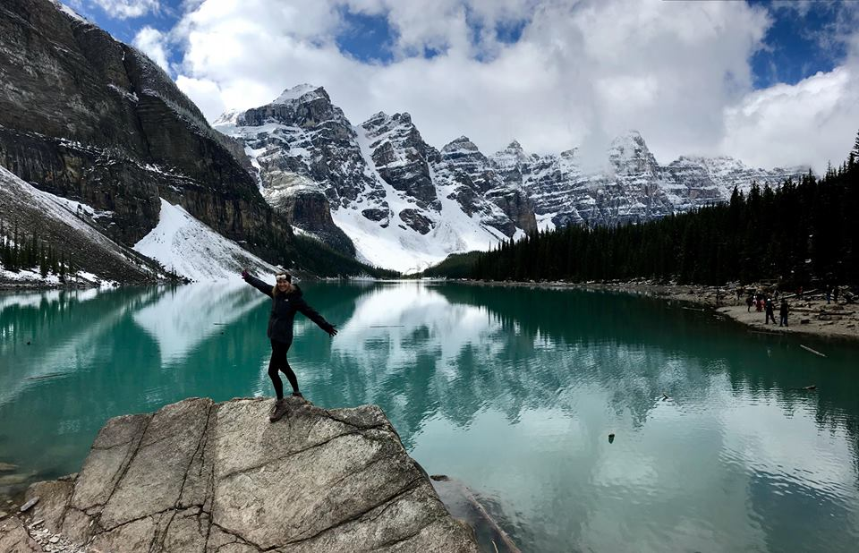 My latest adventure: Lake Moraine in Alberta, Canada.