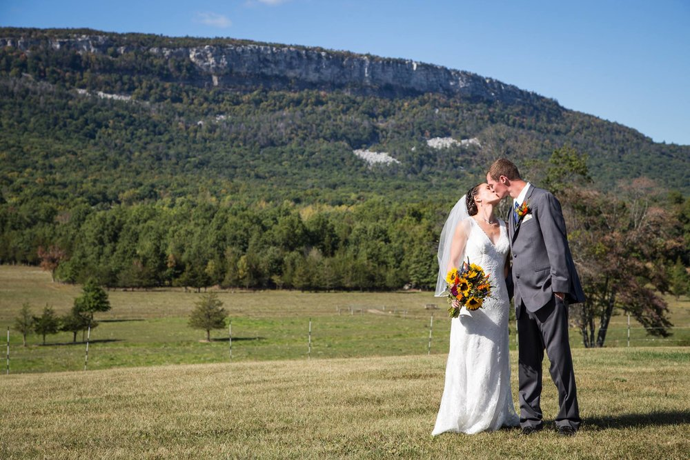 Hudson Valley wedding with a majestic view of the Shawangunk Mountains.