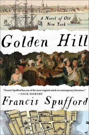 "Old maps, bawdy colonial revelry, and ships creaking in the harbor? I'm here for it. - The cover of Golden Hill hooked me from the start with this combination of images, and the fact that it claims to be ""a novel of old New York"" was intriguing. I love historical fiction, and after reading the first few sentences, an intricately painted scene of a ship coming into New York harbor on a misty day, I can't wait to fly through the rest of this tale.-Emily"