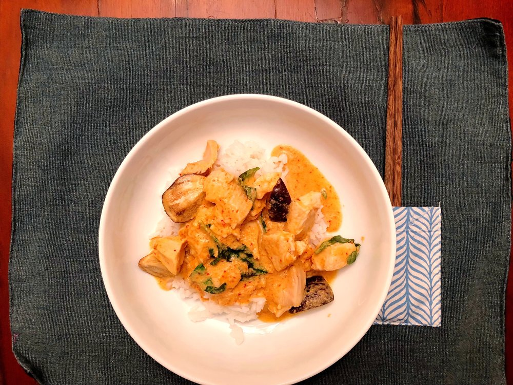 Red Curry with Kaffir Lime Leaves -