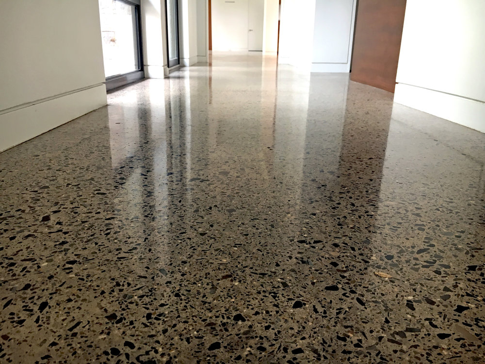 polished residential concrete