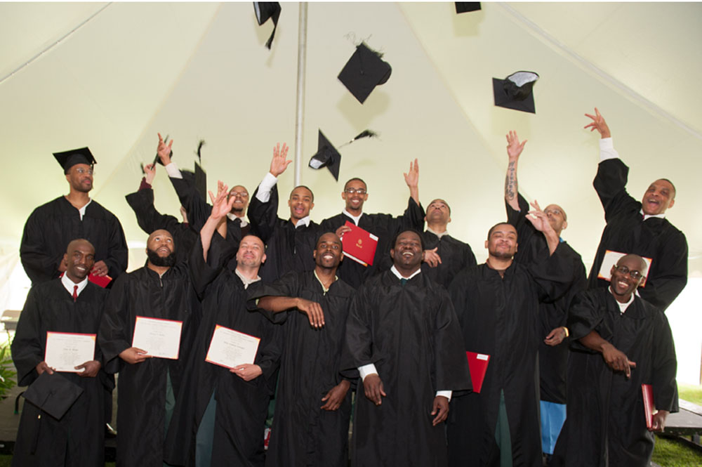 Graduates of the Bard Prison Institute. Image courtesy of Bard College.