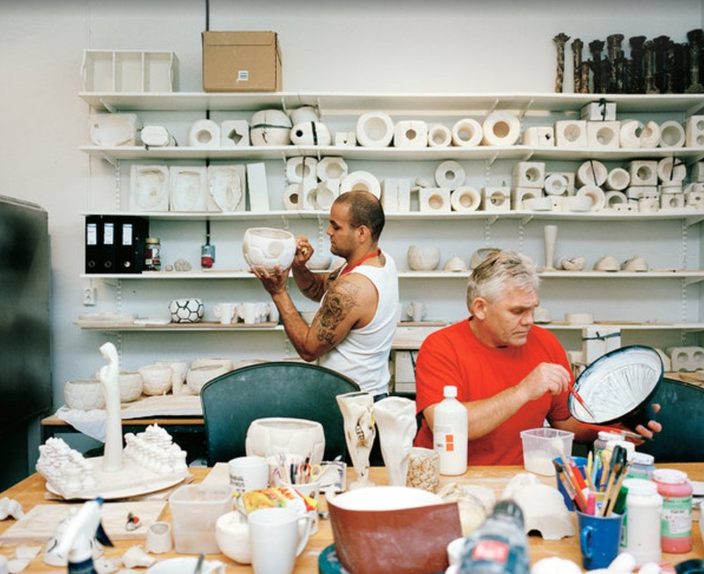 A Halden Prison ceramics class. Image courtesy of Knut Egil Wang, the New York Times.