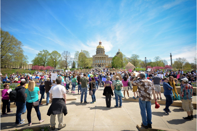 Photo courtesy of March for Science Iowa.