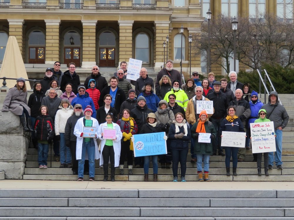 March for Science Iowa, 2018. Photo courtesy of Iowa Science Interface.