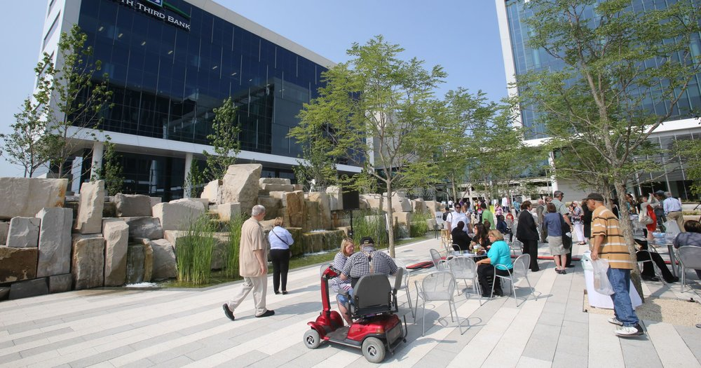 Local visitors to the Commonground at Eskenazi Health. Photo courtesy of the IndyStar.