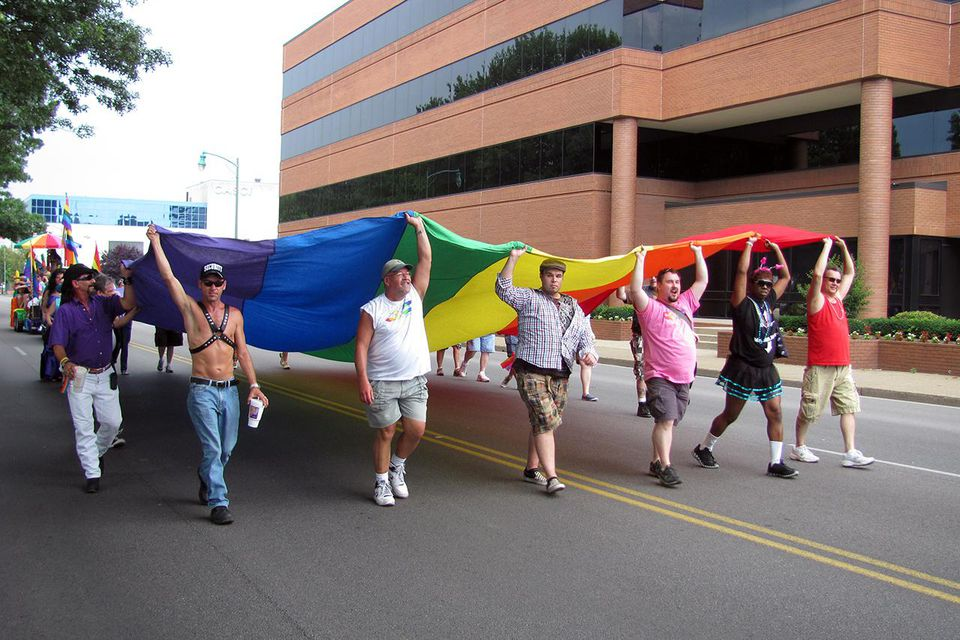 Gay pride parade in Charleston, West Virginia. Photo courtesy of tripsavvy.com