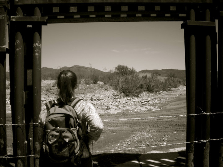 Sarah Jackson on her trip to the US-Mexico Border. Photo courtesy of the author.