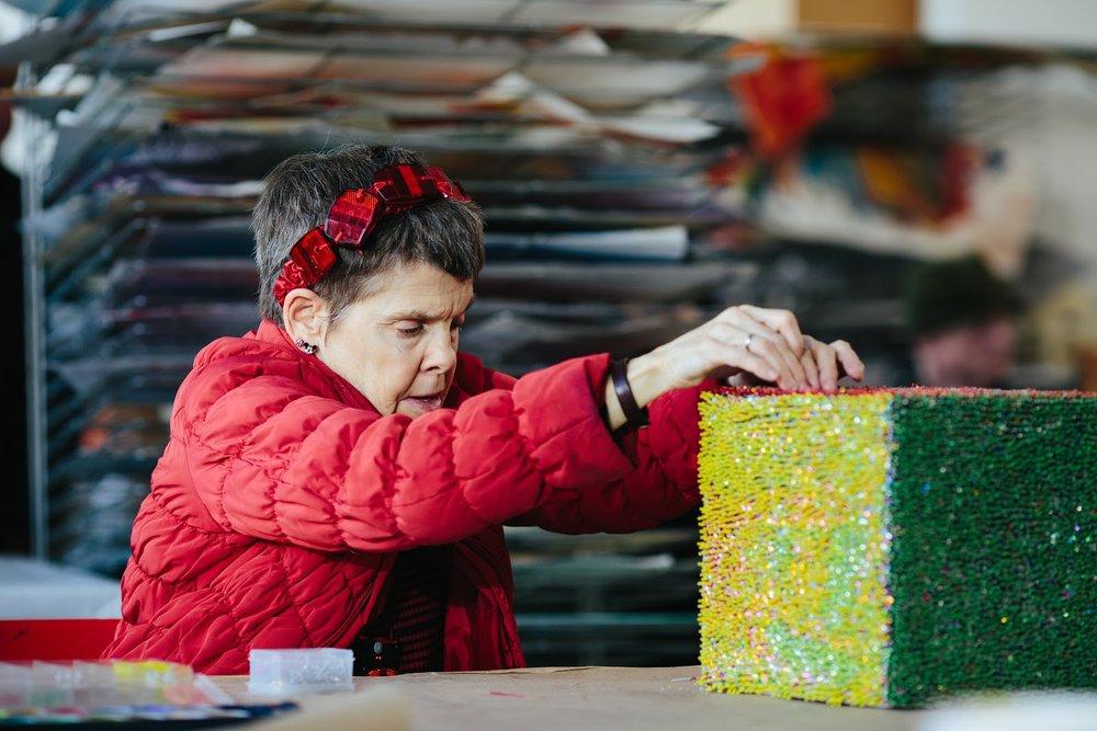 Artist Monica Valentine, Image Credit: Diana Rothery