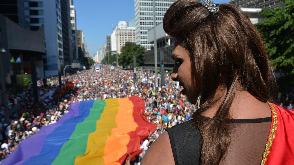 São Paulo's 18th annual LGBTQ Pride Parade in 2014 (Ben Tevener)