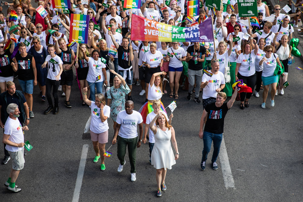 2018 Pride Parade in Stockholm, Sweden (Centerpartiet)