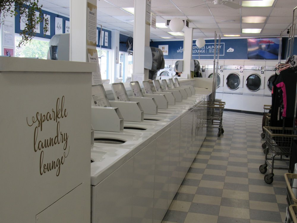 Sparkle laundry loungefeatures sparkle laundry lounge laundromat self serve help yourself to 80 machines in varying sizes from single amp solutioingenieria Choice Image
