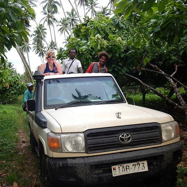 In 2015 I got to live with an amazing family and teach their three kids through distance ed.  They owned and OPERATED a coconut and cocoa plantation on Kar Kar Island, Papua New Guinea.