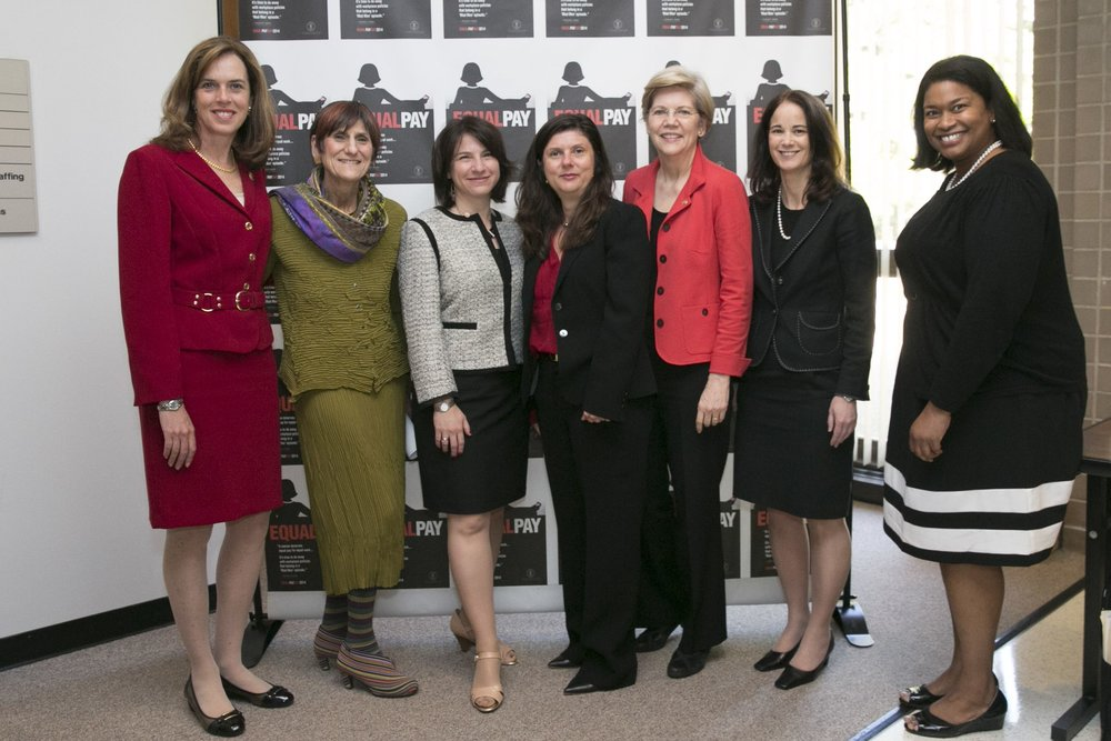 Gayle joins Senator Warren, Representatives Clark & DeLauro to talk equal pay and paid leave. -