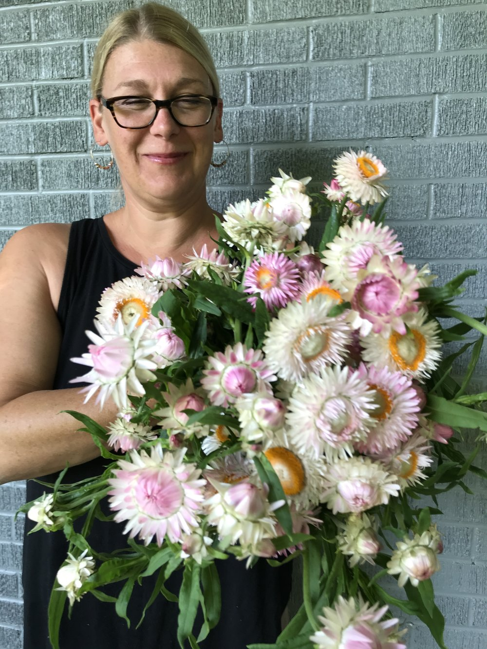 Abigail Helberg Moffitt owner of bloom - flower farm, florist, and delivery in Black Mountain and the Asheville area of North Carolina.