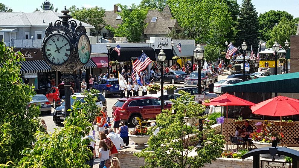 Memorial Day Parade in Crystal Lake. -