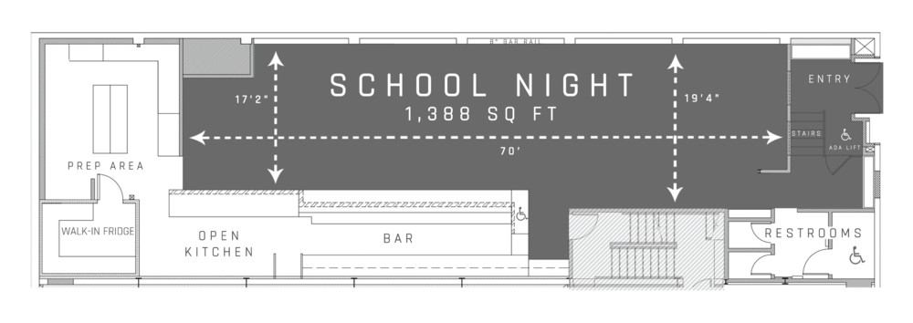 Part of the pearl - School Night is part of the larger venue The Pearl, a flexible-use event space in San Francisco's Dogpatch neighborhood
