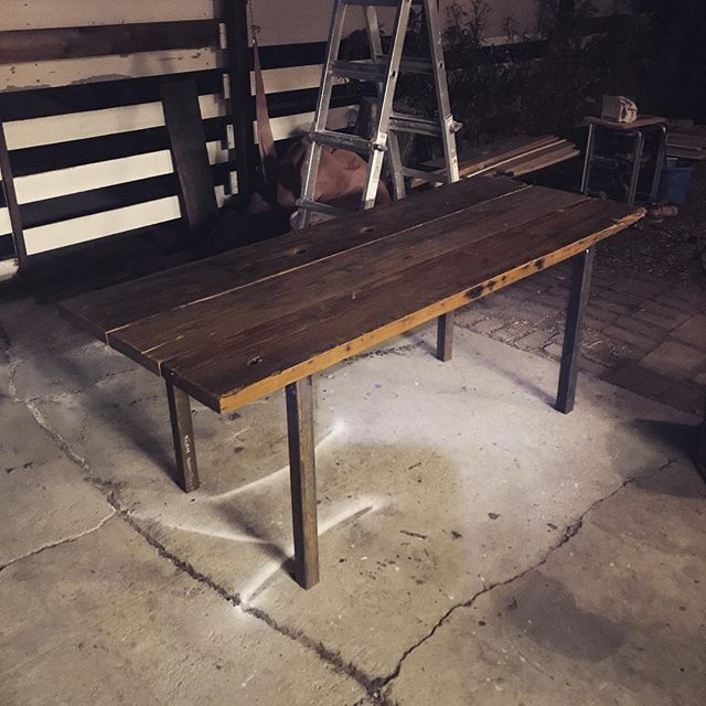 #reclaimedwood custom outdoor table for #ayapeard