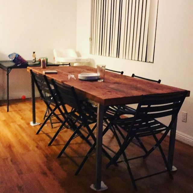 Custom reclaimed housewarming/thanksgiving table