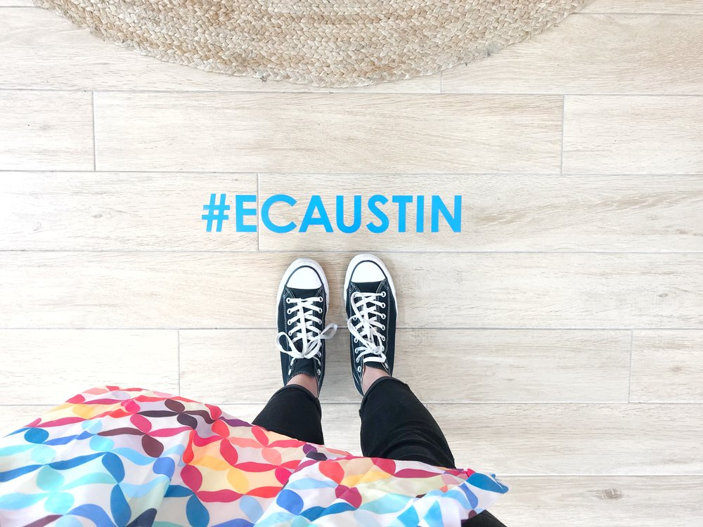 This #ECAustin hashtag was featured all throughout the store. Such a perfect photo opportunity!Because I purchased over $50.00 worth of planner goodies, I received a Mid-Century Circles reusable shopping bag for free.