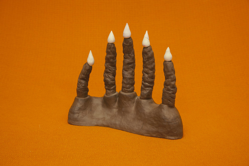 "Monster Hand Turd Candle, ceramic, 12x14x5"", 2016"